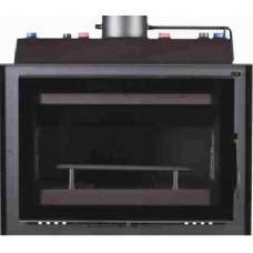 METLOR PCH  VITRUS BLACK  26,7KW με σύστημα αυτόματου ελέγχου καύσης μήκος 1μέτρο Κασέτα τζακιού,ενεργειακό τζάκι καλοριφέρ νερού