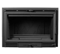 SALGUEDA 800GV E063 ονομ.ισχύ:18kw Ενεργειακή κασέτα με δευτερογενή καύση,2 βεντιλατέρ και σχάρα ψησίματος