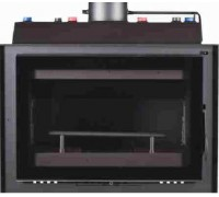 METLOR PCH  100 VITRUS BLACK  / CS  26KW με σύστημα αυτόματου ελέγχου καύσης μήκος 1μέτρο Κασέτα τζακιού,ενεργειακό τζάκι καλοριφέρ νερού
